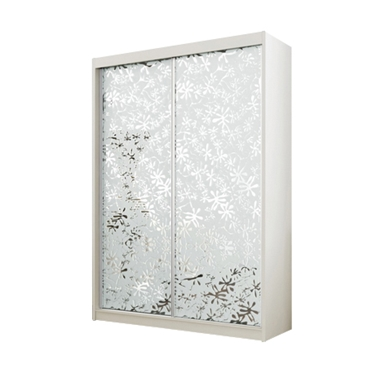 ארונות הזזה: ארון הזזה 2 דלתות מרהיב ביופיו דגם סביון מראות