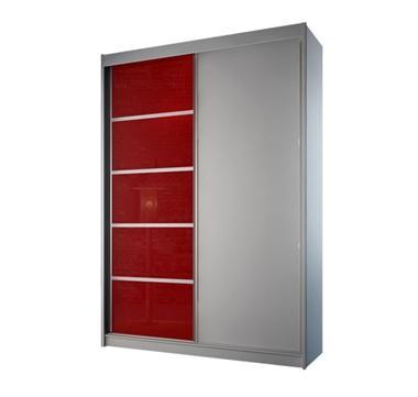 ארונות הזזה: ארון הזזה 2 דלתות מרהיב ביופיו דגם קומו אדום