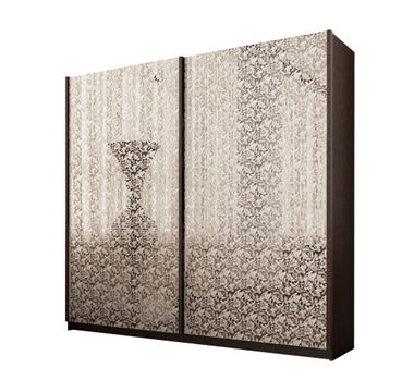 ארונות הזזה: ארון הזזה 2 דלתות מרהיב ביופיו דגם שושן