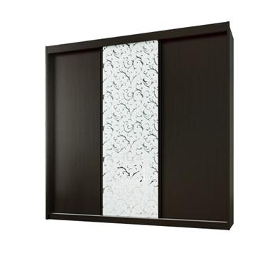 ארונות הזזה: ארון הזזה 3 דלתות מרהיב ביופיו דגם  אוניקס ורד