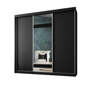 תמונה של  ארונות הזזה: ארון הזזה 3 דלתות מרהיב ביופיו דגם  אוניקס לוטם