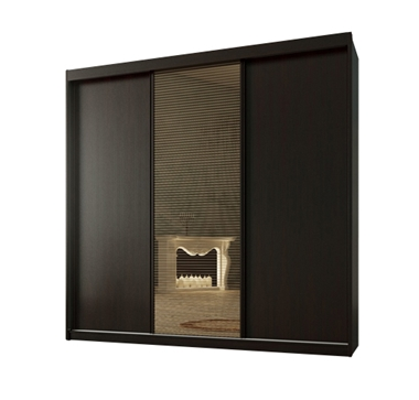 ארונות הזזה: ארון הזזה 3 דלתות מרהיב ביופיו דגם  אוניקס לוצ'י