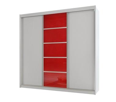 ארונות הזזה: ארון הזזה 3 דלתות מרהיב ביופיו דגם  סן רמו אדום