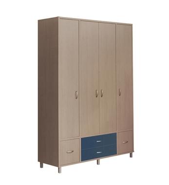 ארונות בגדים: ארון בגדים 4 דלתות + 4 מגירות דגם 530