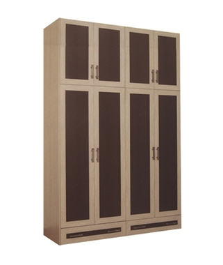 ארונות בגדים: ארון בגדים 4 דלתות + 2 מגירות דגם 521