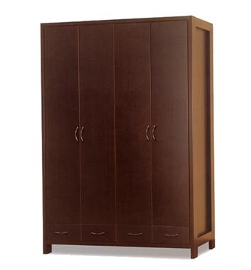 ארונות בגדים: ארון 4 דלתות במחיר משתלם דגם ורד