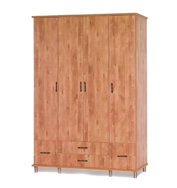 ארונות בגדים: ארון 4 דלתות במחיר משתלם דגם יפן