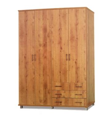 ארונות בגדים: ארון 4 דלתות במחיר משתלם דגם עדי