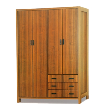 ארונות בגדים: ארון 4 דלתות במחיר משתלם דגם רוני