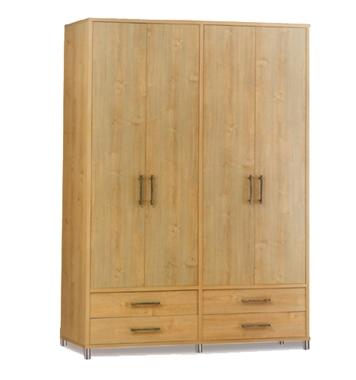 ארונות בגדים: ארון 4 דלתות ו-4 מגירות דגם חדשנות