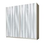 תמונה של ארונות הזזה: ארון הזזה 2 דלתות מרהיב ביופיו דגם איריס לבן