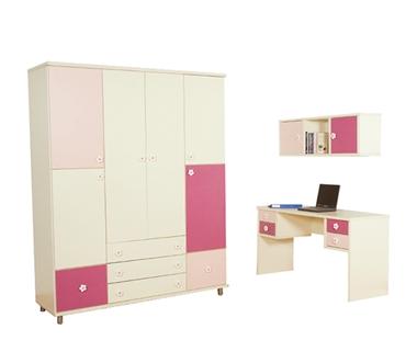 חדרי ילדים: חדר ילדים קומפלט דגם חני