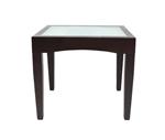 """תמונה של שולחנות: שולחן נפתח לפינת אוכלת דגם פקינו זכוכית 90 ס""""מ"""