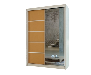 תמונה של ארונות הזזה: ארון הזזה 2 דלתות מרהיב ביופיו דגם ניס כתום