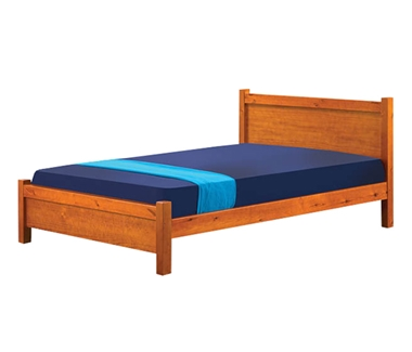 מיטות: מיטה זוגית מעץ מלא דגם ריקי