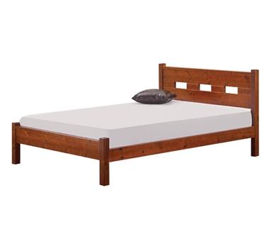 מיטות: מיטה זוגית מעץ מלא דגם תמר