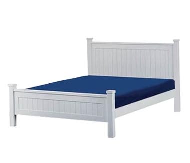 מיטות: מיטה זוגית מעץ מלא בשילוב MDF דגם נסיכה