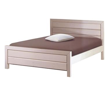 מיטות: מיטה זוגית מעץ מלא דגם יהלום