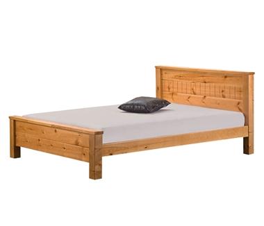 מיטות: מיטה זוגית מעץ מלא דגם ליז