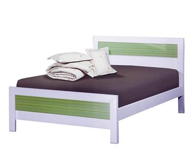 תמונה של מיטות: מיטה וחצי מעץ מלא דגם שליו