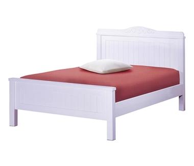 מיטות: מיטה וחצי מעץ מלא דגם נעמה