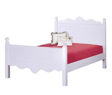 מיטות: מיטה וחצי מעץ מלא דגם בלה