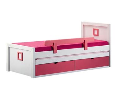 מיטות: מיטה יחיד מעץ מלא + מיטה נגררת  דגם נרקיס