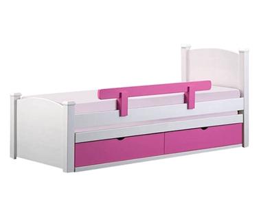 מיטות: מיטה יחיד מעץ מלא + מיטה נגררת  דגם נתנאל