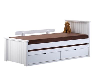 מיטות: מיטה יחיד מעץ מלא + מיטה נגררת דגם דורי