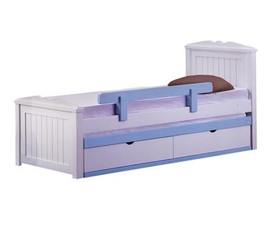 מיטות: מיטה יחיד מעץ מלא + מיטה נגררת דגם שירה