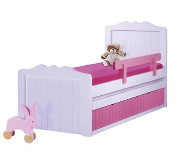 מיטות: מיטה יחיד מעץ מלא + מיטה נגררת דגם ברוש