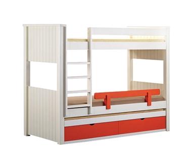 מיטות: מיטה קומותיים מעץ מלא + מיטה נגררת דגם מוטי