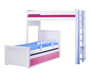 מיטות: מיטה קומותיים מעץ מלא + מיטה נגררת דגם רזיאל
