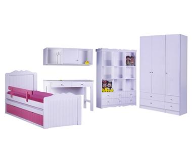 חדרי ילדים: חדרי ילדים מעץ מלא דגם ברוש
