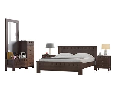 חדרי שינה: חדר שינה זוגי מרהיב ביופיו דגם ליאני
