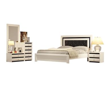 חדרי שינה: חדר שינה זוגי מרהיב ביופיו דגם לימור