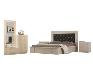 חדרי שינה: חדר שינה זוגי מרהיב ביופיו דגם לונדון