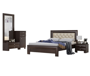 חדרי שינה: חדר שינה זוגי דגם קריסטל