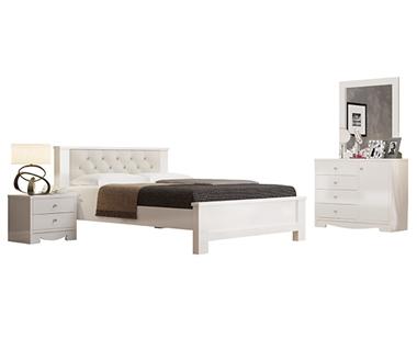חדרי שינה: חדר שינה זוגי מרהיב ביופיו דגם רותם