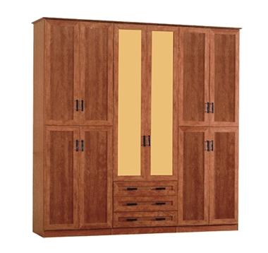 ארונות בגדים: ארון 6 דלתות + 3 מגירות דגם 509