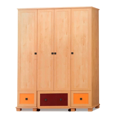 ארונות בגדים: ארון 4 דלתות במחיר משתלם דגם גיל