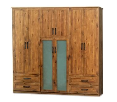 ארונות בגדים:  ארון 6 דלתות + 4 מגירות דגם טליה