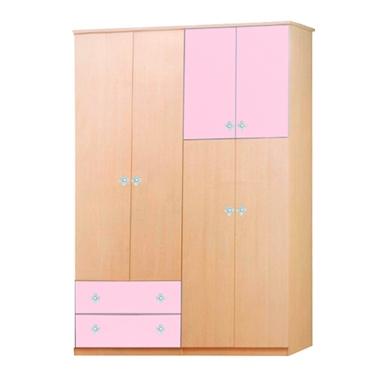 ארונות בגדים: ארון 4 דלתות במחיר משתלם דגם אור