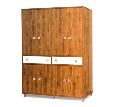 ארונות בגדים: ארון 4 דלתות במחיר משתלם דגם שושנה