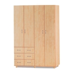 תמונה של ארונות בגדים: ארון 4 דלתות במחיר משתלם דגם קריסטל