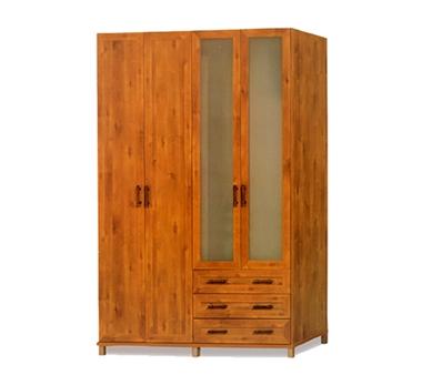 ארונות בגדים: ארון 4 דלתות במחיר משתלם דגם חן