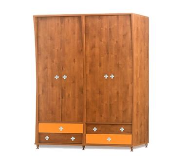 תמונה של ארונות בגדים: ארון 4 דלתות במחיר משתלם דגם אלי