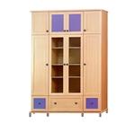 תמונה של ארונות בגדים: ארון  4 דלתות מעוצב דגם יער