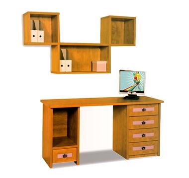 תמונה של שולחנות מחשב: שולחן + כוורת לחדר ילדים דגם עמית