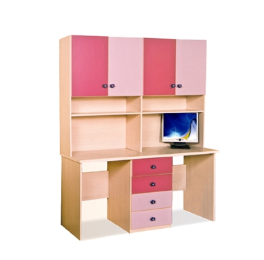 תמונה של שולחנות מחשב: שולחן + כוורת לחדר ילדים דגם יעל